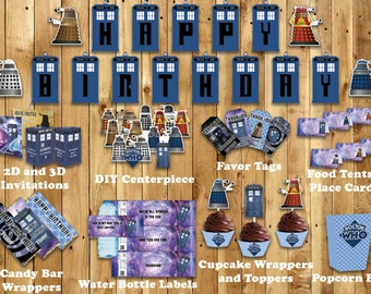 Doctor Who Themed Party Kit - INSTANT DOWNLOAD