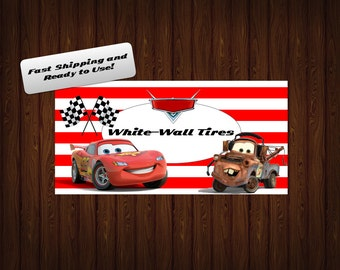 Cars Party Food Tags/Labels