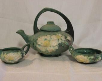 Vintage Roseville Tea Set Peony 3S