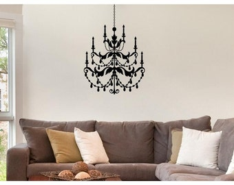 Chandelier living room wall decor-Wall Decal Vinyl  Sticker