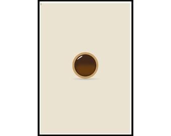 Toffeefee Poster, bisque background minimalist