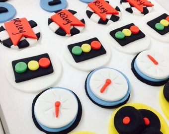 Cars Fondant Cupcake Toppers