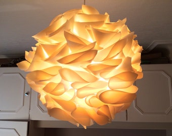 Suspension/lamp paper color ecru/ivory/cream/white broken