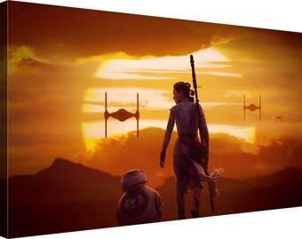 """BB8 Starwars Canvas Wall art """"30x20"""" 76x51cm"""