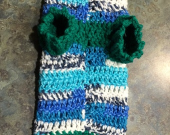 Extra Small to Small Handmade Dog Sweater Crocheted