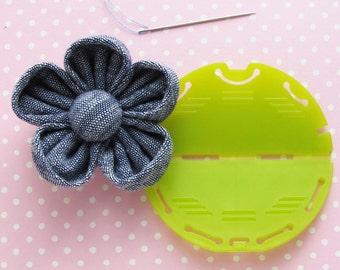 Kanzashi Fabric Flower Maker Tool | Clover Kanzashi Small Orchid Template | Fabric Flower Embellishment