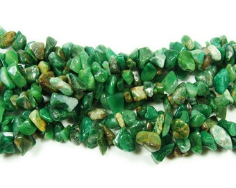 African Jade Chips Gemstone Beads