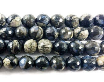 Australian Gray Opal Faceted Gemstone Beads