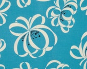 Denyse Schmidt Katie Jump Rope Allure Ribbon Floral cotton quilt fabric - fat quarter