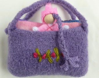 The Princess and the Pea set felted bag doll mattresses pea Fairy tale