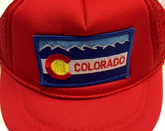 Infant Trucker Hat - Colorado Patch - Red Baby Cap