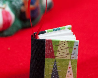Miniature Book Holiday Ornament