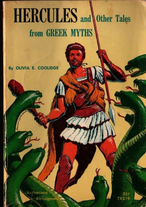 Hercules and Other Tales from Greek Myths + Olivia E. Coolidge + David Lockhart + 1967 + Vintage Kids Book