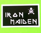 Iron Maiden Matter of Life and Death Metal Rock Band Sanctuary Records Skull Black and White Waterproof Vinyl Sticker