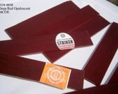 Bullseye 90COE 0224-0030  Deep Red Opalescent Glass for Fusing 5 inch by 1 inch, 10 pieces, 90 coe Kilnforming Glass, Willow Glass