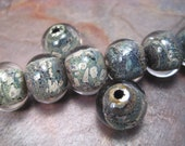 lichen the silvered moss texture (by-the-bead) lampwork glass bead