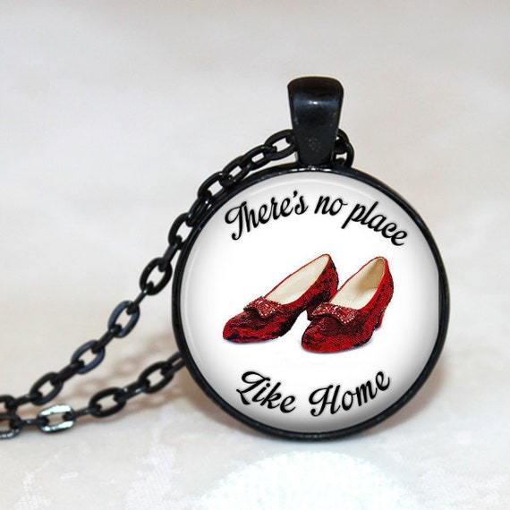 There's No Place Like Home Ruby Slippers White