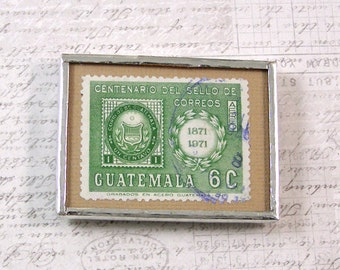 Guatemala Vintage Postage Stamp Magnet
