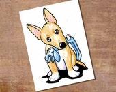 Portuguese Podengo Pequeno Puppy ORIGINAL Art Aceo