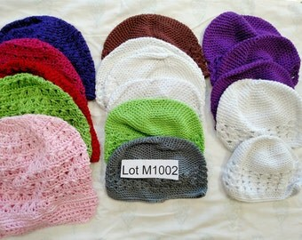 Price Reduced Craft DESTASH LOT M1002 Mixed Baby and Children's Hats.  3 Sizes, Many Colors... Please Read Description.  See all destash...