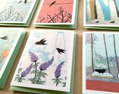 Boxed Bird Notecard Set // Boxed Blank Cards // Map Painting Cards // Bird Cards // Bird Stationary // Map Art // Rachel Austin Bird Cards