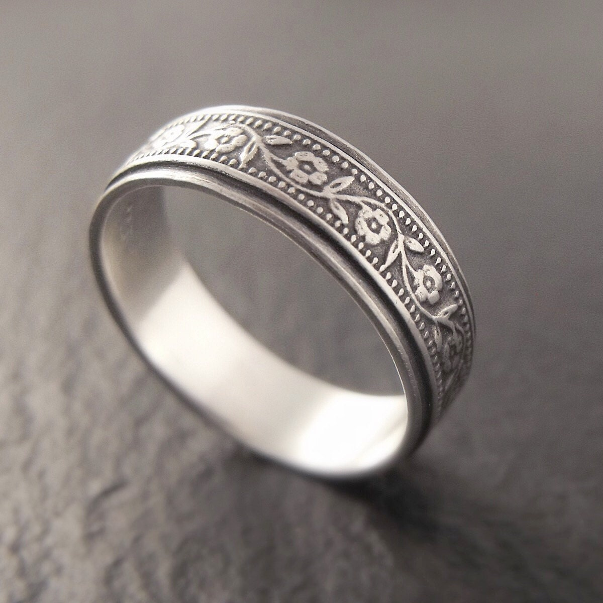 sterling silver wedding band womens by downtothewiredesigns