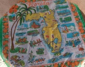 Vintage 1960s Scarf Florida Souvenir Nylon Pre Disney World 2015534