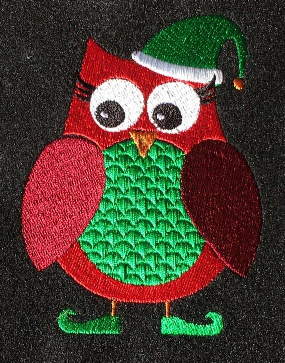 Christmas Owl - Red