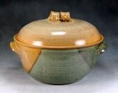 3 Quart Desert Yellow  Large Ceramic Casserole Dish With Lid Wheel Thrown Pottery 3