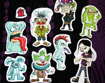 Wicked Critters Alternative Sticker Set 9pc