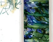 Alcohol ink painting bookmark original art beautiful affordable gift for a reader