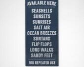 Available Here- Beach Signs- Beach House Sign- Rustic Beach Decor- Gray- Beach House Decor- Beach Wall Art- Beach Theme Decor
