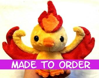 MADE TO ORDER Pokemon Go! Moltres Legendary Bird Plush Toy ~ Team Valor