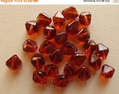 On Sale Vintage amber brown lucite beads
