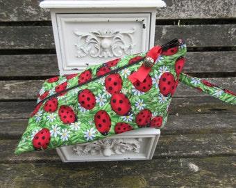 Ladybug Wedge shaped Wet Bag with handle