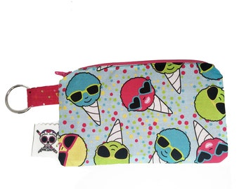 Snow Cones Medium Zipper Pouch