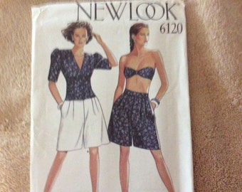 New Look pattern #6120 sizes 8 to 18 ladies shorts and tops