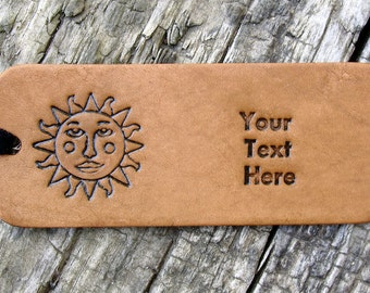 Personalized Luggage Tag Leather You Are My Sunshine
