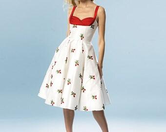 Butterick B5882 Sewing Pattern Retro Party Dress Womens Size AX5 4-12
