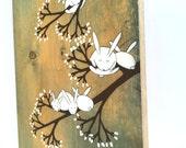 "Marshmallow Garden - 6""x14"" Mounted Print"