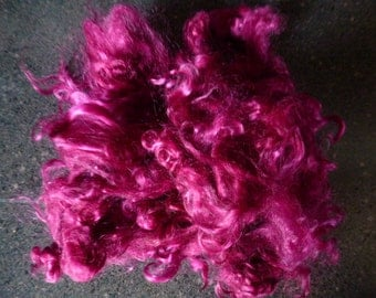 Very Violet Hand Dyed Kid Mohair Locks One Ounce