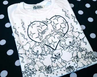 Party Animal Screen Printed Tee in S or M