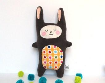 Plush Bunny Stuffie, Rabbit Softie, Rabbit Doll, Stuffed Animal - Baby Gift