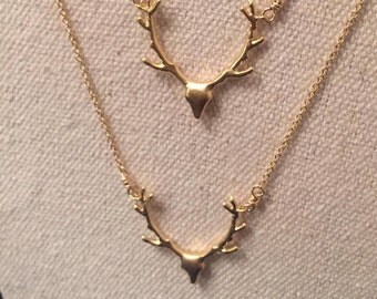 golden stag . layering . gold vermeil . necklace .