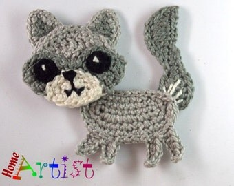 Crochet Applique wolf