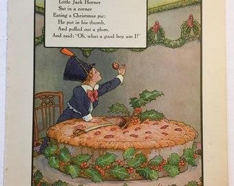 Little Jack Horner....from 1921 Mother Goose Book