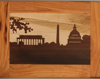 DC Skyline Cutting Board