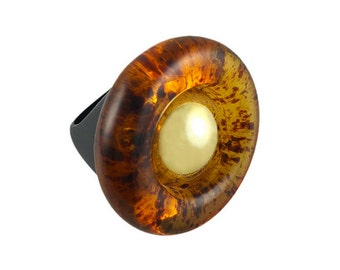 Alexia Wood Glass Ring