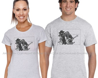 Dachshund T-Shirt Classic Album Series: Born to Burrow