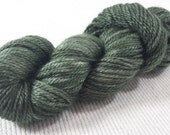NEW Hand Dyed Mini Skein Merino Silk Fingering Weight 1 ounce 122 yards - White Pine Semi Solid get in on mini skein madness!